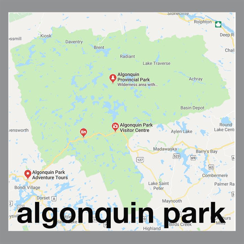 algonquin park pendant map jewelry