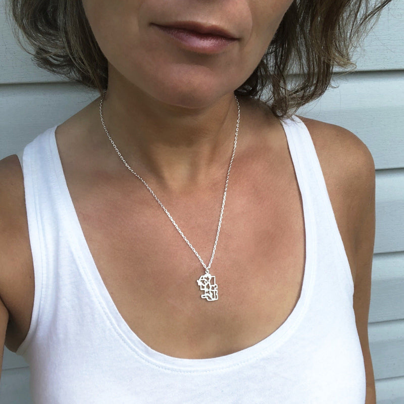 calgary alberta pendant necklace map jewellery