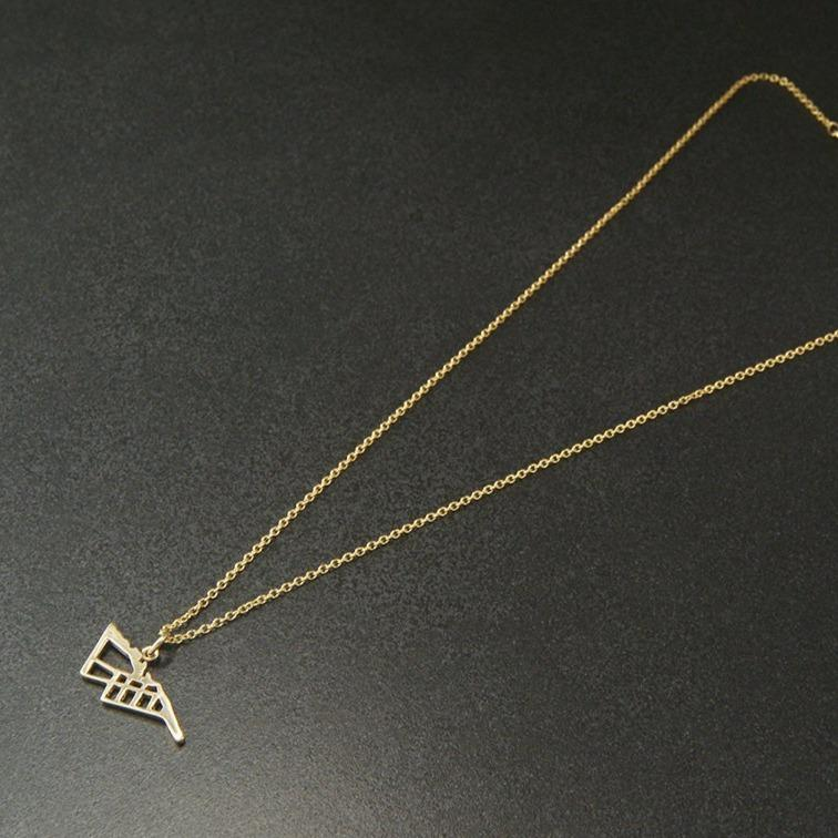 gold map jewellery handmade  collingwood