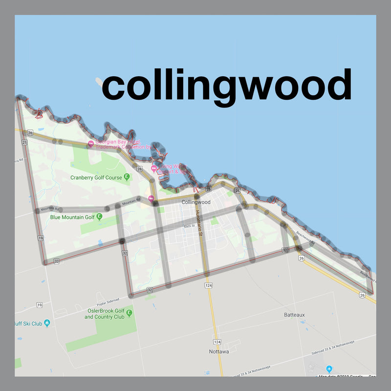 Collingwood Map Pendant