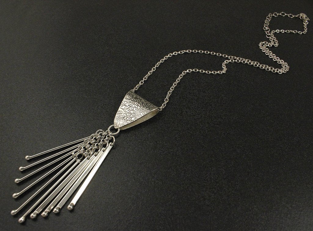 Patterned Fringe Pendant