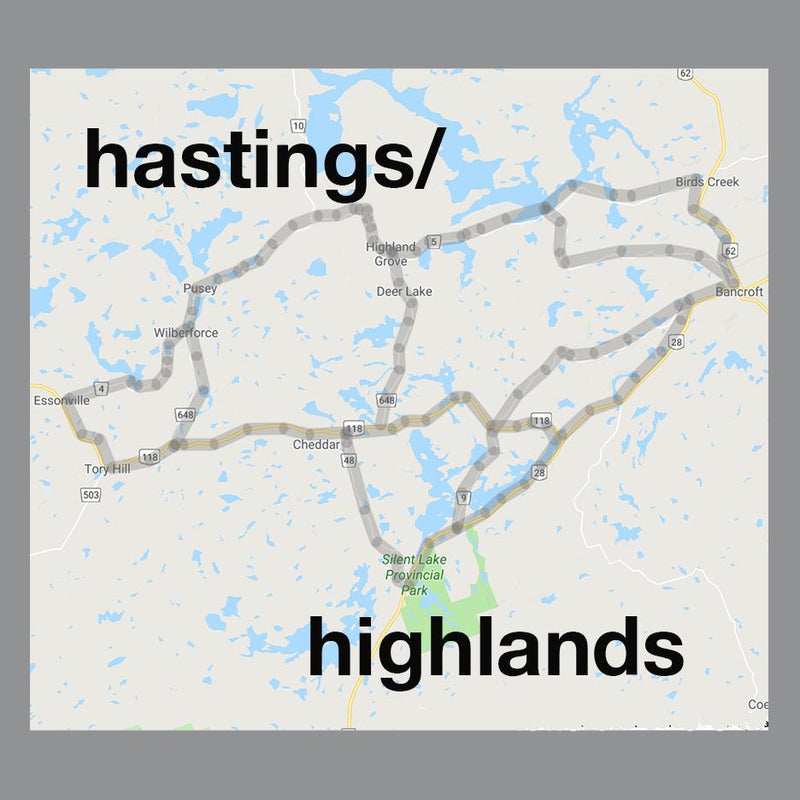 hastings highlands ontario pendant map jewelry