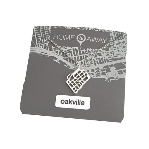 oakville ontario map pendant necklace