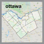 Ottawa Map Pendant