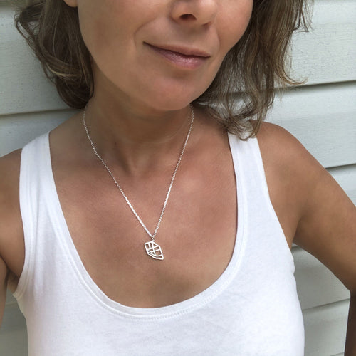 parkdale toronto map necklace pendant