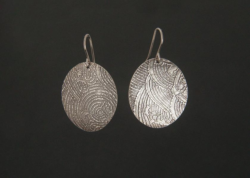 Textured Tag Earrings