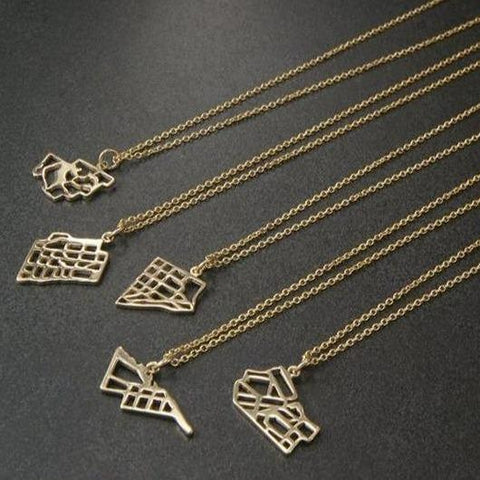 gold map jewellery handmade toronto