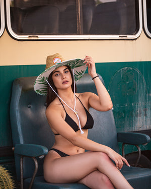 Tropical Straw Beach Hat