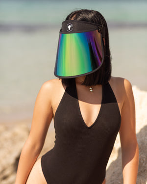 XL Black Rainbow Paparazzi Mask