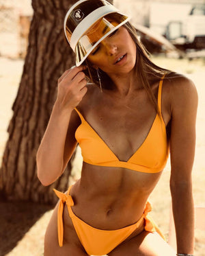 Yellow Cherry Visor Hat