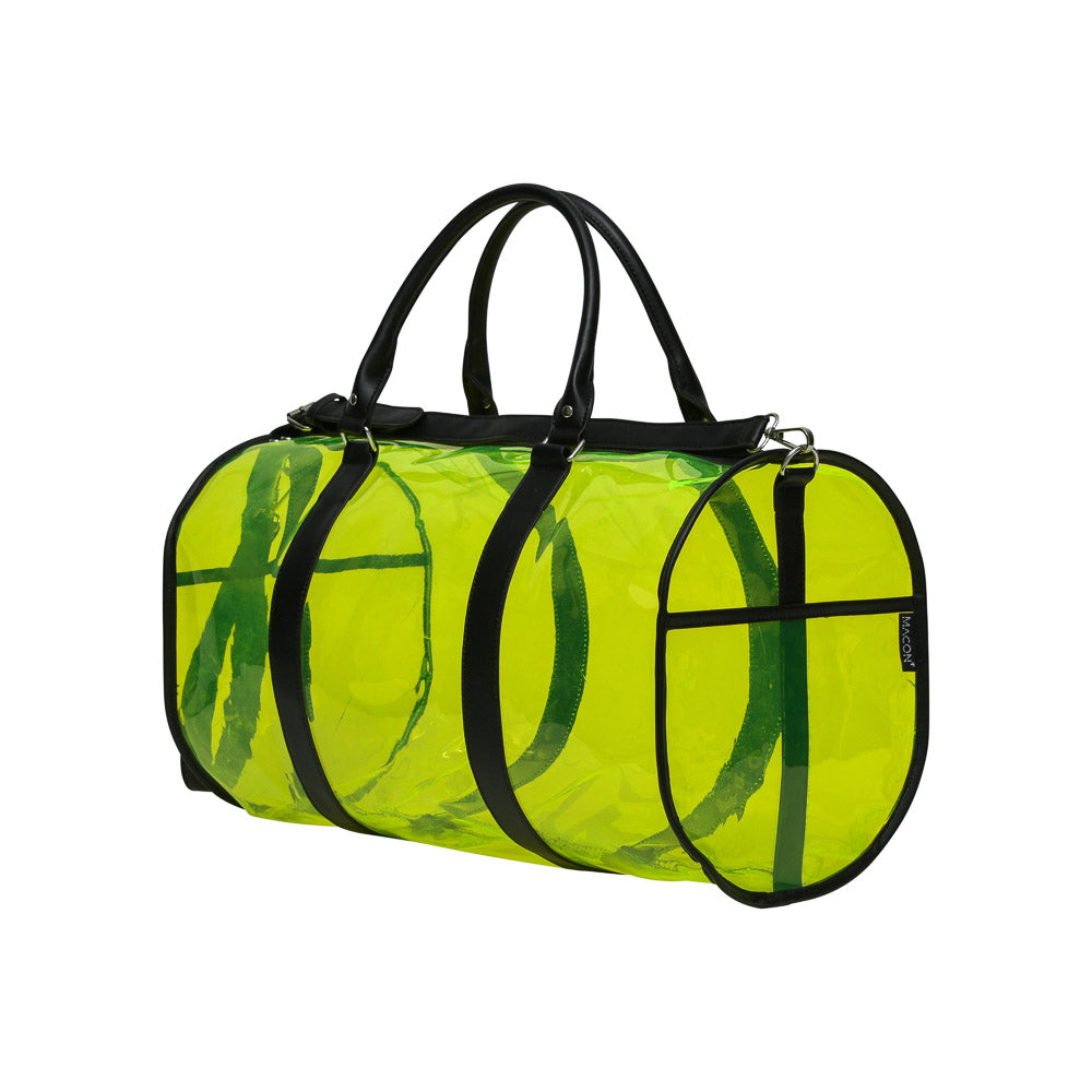 Neon Lime Transparent Duffel Bag