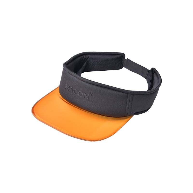93b38c388faeee Sport athletic visor hat with orange semi transparent plastic brim -  Αθλητικό καπέλο visor με πορτοκαλί