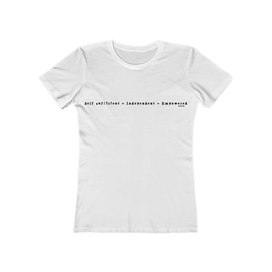 Self sufficient woman slim fit t-shirt
