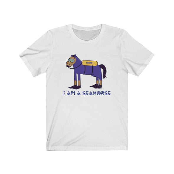 """I'm a Seahorse"" Light Cotton Men's T-Shirt - OUTFITEE"