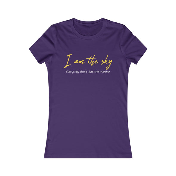 """I Am The Sky"" Women's Slim Fit Tee - OUTFITEE"