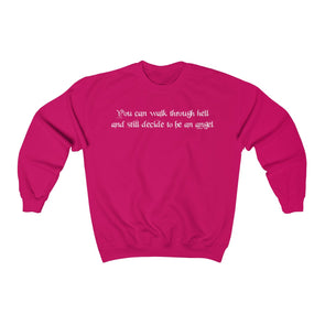 """Decide To Be An Angel"" Women's Crewneck Sweatshirt - OUTFITEE"