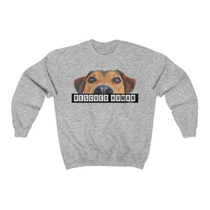 """Rescued Human"" Men's Sweatshirt - OUTFITEE"