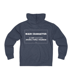 """Family Reunion's Main Character"" Men's Zip Hoodie - BACK - OUTFITEE"