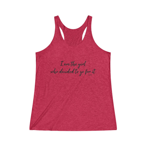 """I Am The Girl"" Women's Tri-Blend Tank Top - OUTFITEE"
