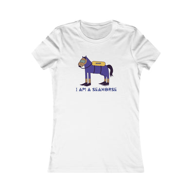 """I'm a Seahorse"" Women's Slim Fit T-Shirt - OUTFITEE"