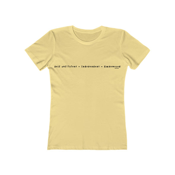 """Self-Sufficient"" Women's Slim Fit Tee - OUTFITEE"