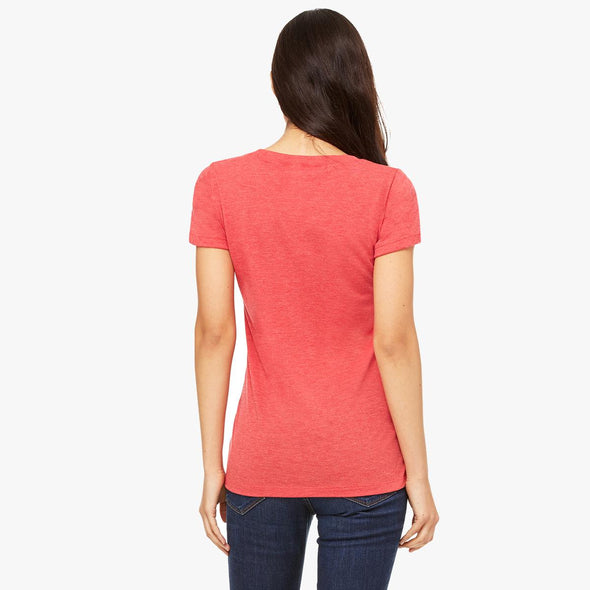 """I Needed A Hero..."" Triblend Short Sleeve Women's Color Tee - OUTFITEE"