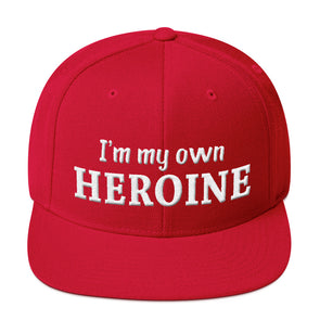 """I Am My Own Heroine"" Snapback Hat - OUTFITEE"