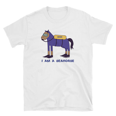 """I'm a Seahorse"" Cotton Men's T-Shirt - OUTFITEE"