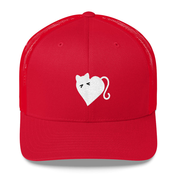 White Kitty Trucker Cap - OUTFITEE