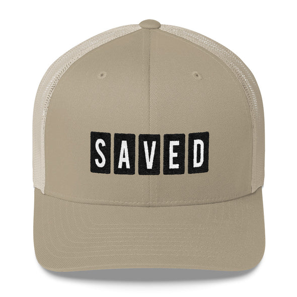 """Saved"" Low Profile Trucker Cap - OUTFITEE"