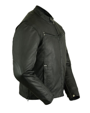 DS742 Men's Lightweight Drum Dyed Naked Lambskin Jacket Close Outs Virginia City Motorcycle Company Apparel