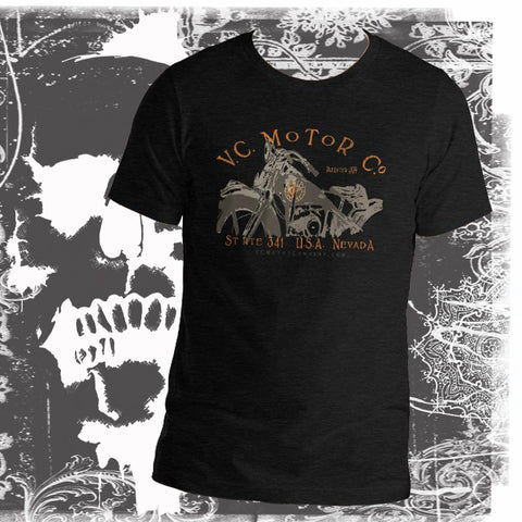 Motorcycle named Ada - Men's Biker T-Shirt Men's T-Shirt Virginia City Motorcycle Company Apparel