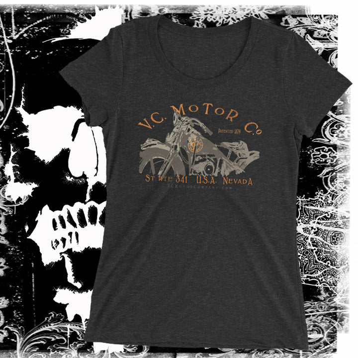 Motorcycle named Ada - Ladies Biker Tee Ladies T-Shirt Virginia City Motorcycle Company Apparel