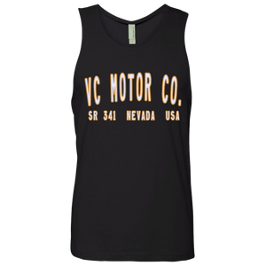 VC Motor Co. Logo - Men's Motorcycle Black Tank Men's Tank Top Virginia City Motorcycle Company Apparel