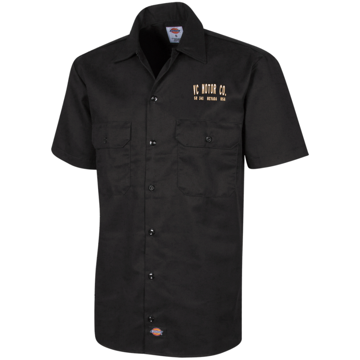 Men's Short Sleeve Workshirt - VC Motor Co. Logo Men's Shirts Virginia City Motorcycle Company Apparel