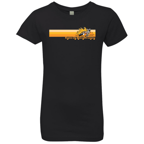 Retro Dirt Bike Slide Girls' Princess T-Shirt Kids Shirt Virginia City Motorcycle Company Apparel