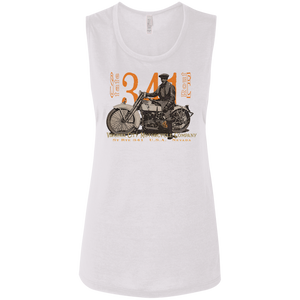 "J-Model Harley ""Polly"" - Flowy Muscle Motorcycle Tank for Her Ladies T-Shirt Virginia City Motorcycle Company Apparel"