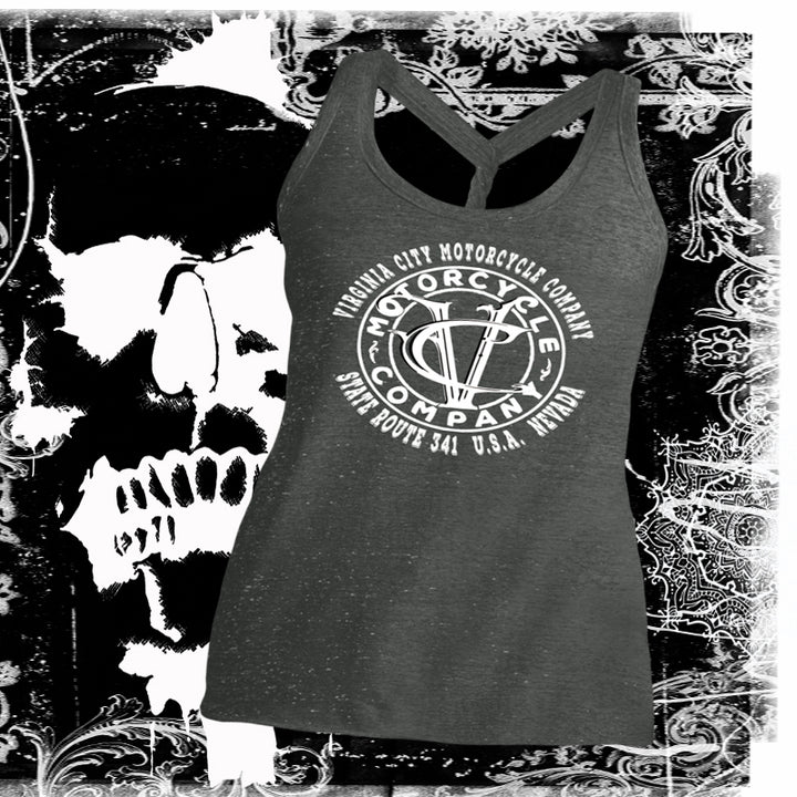 Virginia City Motorcycle Company's Twisted Tank Ladies Tank Top Virginia City Motorcycle Company Apparel