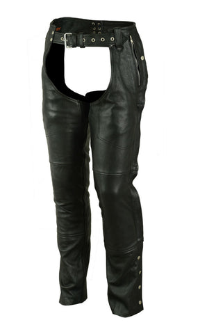 DS476 Unisex Double Deep Pocket Thermal Lined Chaps Chaps Virginia City Motorcycle Company Apparel