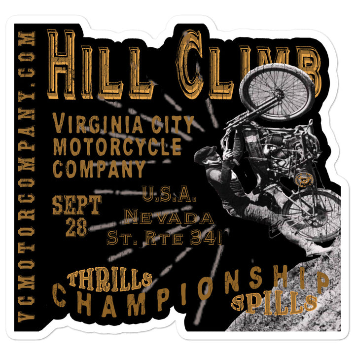 VC Hill Climb sticker Stickers Virginia City Motorcycle Company Apparel