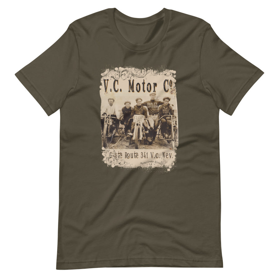 1920's Motorcycle Club Short-Sleeve T-Shirt Men's T-Shirt Virginia City Motorcycle Company Apparel