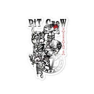 Pit Crew Skulls sticker Stickers Virginia City Motorcycle Company Apparel