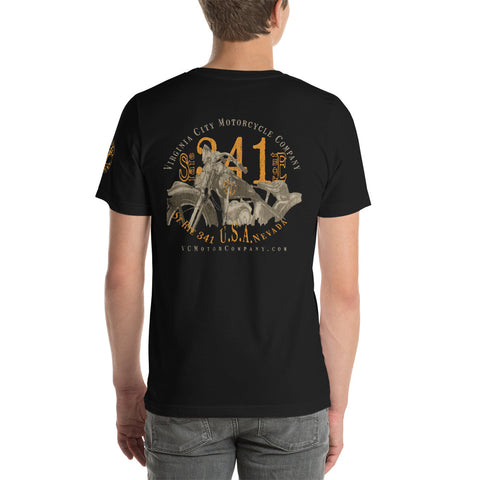 Motorcycle named Ada 2 - Men's Biker T-Shirt Men's T-Shirt Virginia City Motorcycle Company Apparel