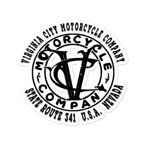 VC Motor Co Logo sticker Stickers Virginia City Motorcycle Company Apparel