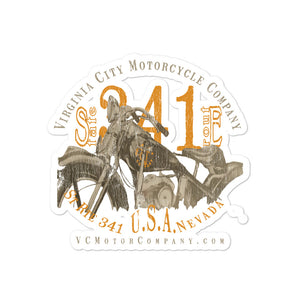 Motorcycle named Ada sticker Stickers Virginia City Motorcycle Company Apparel