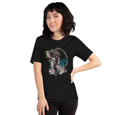Skull + Flower Ladies Short-Sleeve Skull T-Shirt