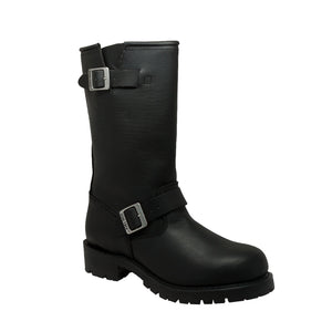 "Men's Black 13"" Engineer Motorcycle Boots - 1440 Men's Boots Virginia City Motorcycle Company Apparel"