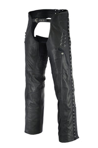 Women's Stylish Lightweight Hip Set Chaps - DS485 Chaps Virginia City Motorcycle Company Apparel