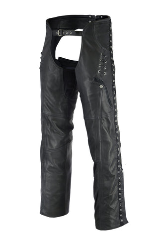 DS485 Women's Stylish Lightweight Hip Set Chaps Chaps Virginia City Motorcycle Company Apparel