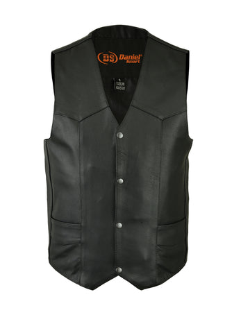 Daniel Smart - Men's Traditional Light Weight Vest - DS109 Men's Leather Vests Virginia City Motorcycle Company Apparel